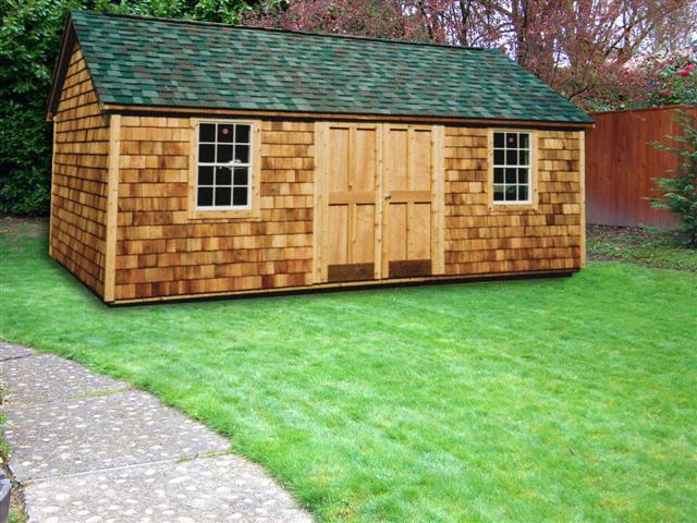 12 X 20 Cedar Wood Cape Cod Cc 16 Portable Buildings