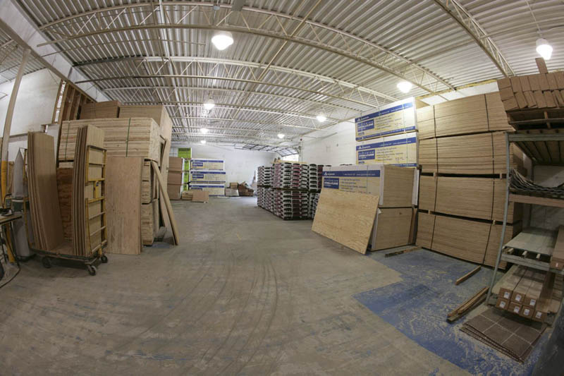 Materials are warehoused inside, away from the weather.