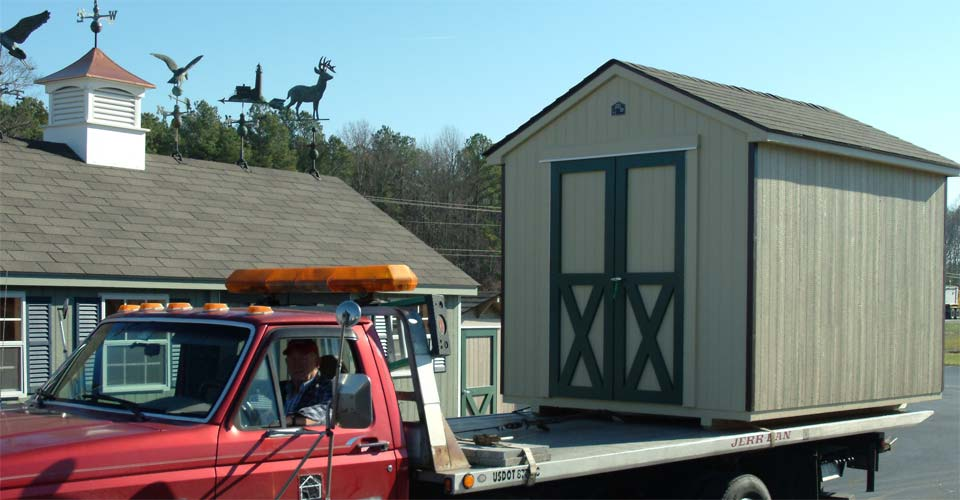 Portable Shed Delivery in Delaware, Maryland and Virgina