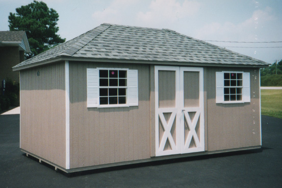 Hip roof sheds archives portable buildings inc for Shed styles