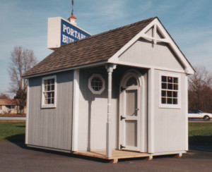 Customized Cape Cod Portable Storage Shed to match your home