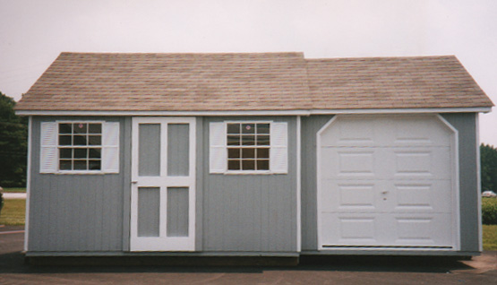 12u2032 X 20u2032 Custom Built Storage Shed With U201cGarageu201d (CU 5)