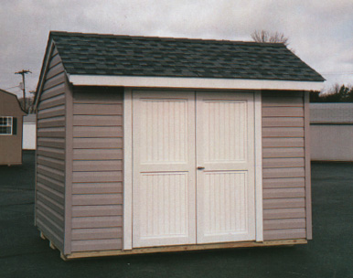 Lifetime outdoor storage shed 7x7 do it yourself garden for Exterior shed doors design