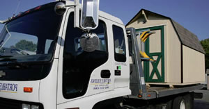 Storage shed delivery in DE, MD, and VA