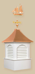 Arched Louvers Copper Cupola - Dalton