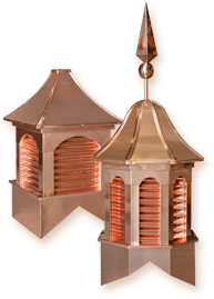 Estate Copper Series: 16oz copper clad cupola providing beauty and durability like no other.