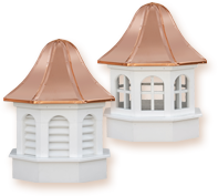 Estate Gazebo Series:  The same style and elegance of the Estate Series vinyl roof cupolas proportioned to accommodate any gazebo.