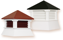 Shed Series: Simple yet practical these attractive and affordable roof cupolas are the perfect companion to your shed. Available in a wide array of color and size combinations.