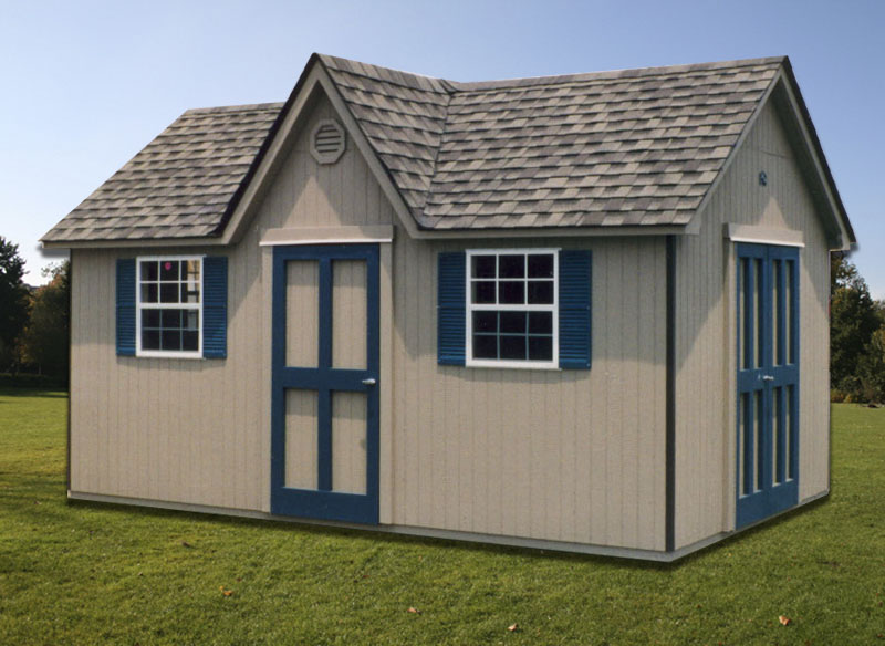 10 39 x 16 39 cape cod shed cc 12 portable buildings inc for Shed with dormer