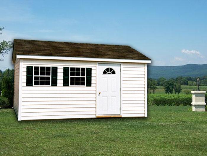 10 X 14 Ranch W Vinyl Siding R 11 Portable Buildings Inc Milford De