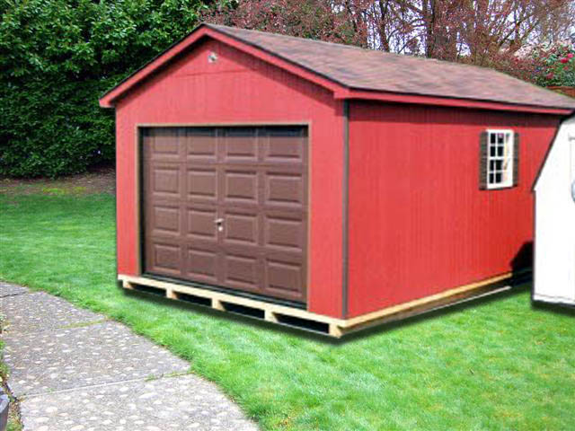 12' x 20' Red Ranch Storage Building (R-4) - Portable ...