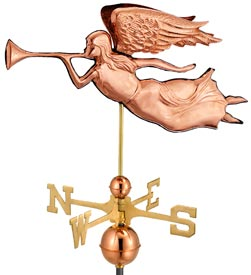 Polished Copper Angel Weather Vane (#630P)