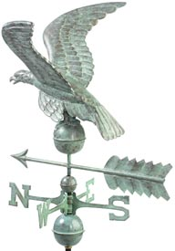 Smithsonian Eagle Blue Verde Copper Weathervane