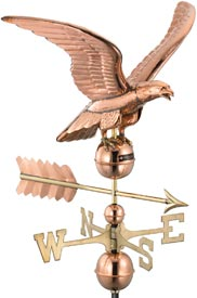 Smithsonian Eagle Polished Copper Weathervane
