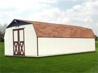 12′ x 24′ White Wood Barn (B-4)