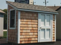 4′ x 8′ Cedar Lean-To Garden Storage Shed (CU-11)