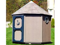 9′ x 9′ Octagon Storage Shed with Octagonal Windows (CU-22)