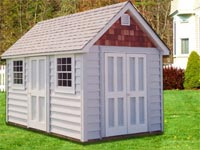 8′ x 12′ Custom Cape Cod with Cedar Gables (CU-24)
