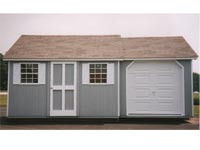 "12′ x 20′ Custom Built Storage Shed with ""Garage"" (CU-5)"