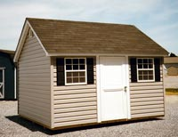 10 x 12 Cape Cod Shed with vinyl siding
