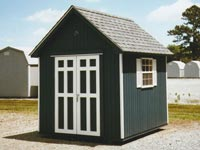 Cute 8' x 8' Cape Cod color matched shed