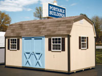 10' x 16' Dutchman w/ Custom Painted Doors (D-9)