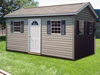 10′ x 16′ Ranch, Dutchlap Vinyl Siding (R-10)