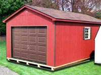 12′ x 20′ Red Ranch Storage Building (R-4)