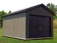 10′ x 16′ x 7′ Ranch w/ Overhead Door (R-6)