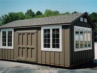 12′ x 20′ x 7′ Ranch Style Woodshop (R-9)