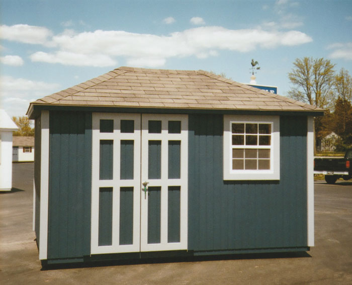 10 X 12 Ranch Storage Building With Hip Roof R 17